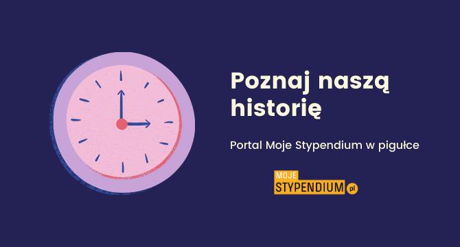 grafika do artykułu o historii portalu Moje Stypendium