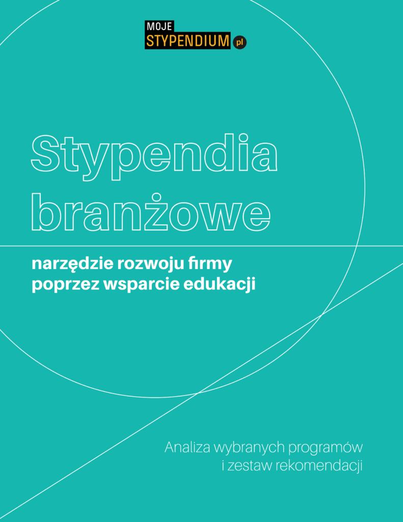 Zdjęcie przedstawia okładkę broszury o stypendiach branżowych.