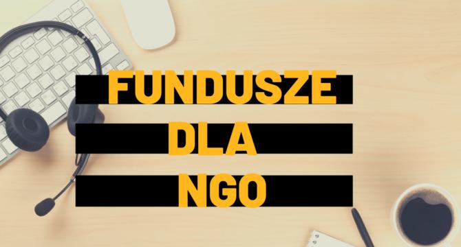 Fundusze dla NGO grafika dekoracyjna z napisem
