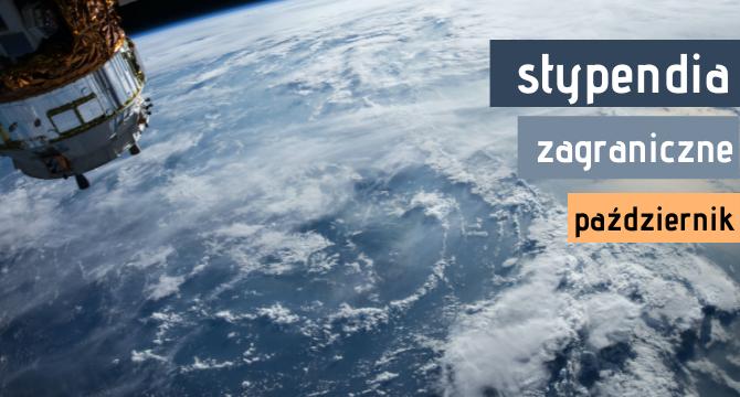 zdjecie ziemi z satelity z napiisem stypendia zagraniczne